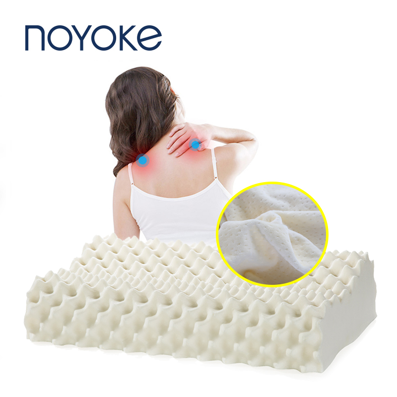 Noyoke Thailand Imports 100% Natural Latex Pillow Orthopedic Neck Pillow Fiber Cervical Health Care Orthopedic Latex Pillow Подушка