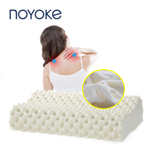 Noyoke Thailand Imports 100% Natural Latex Pillow Orthopedic Neck Fiber Cervical Health Care