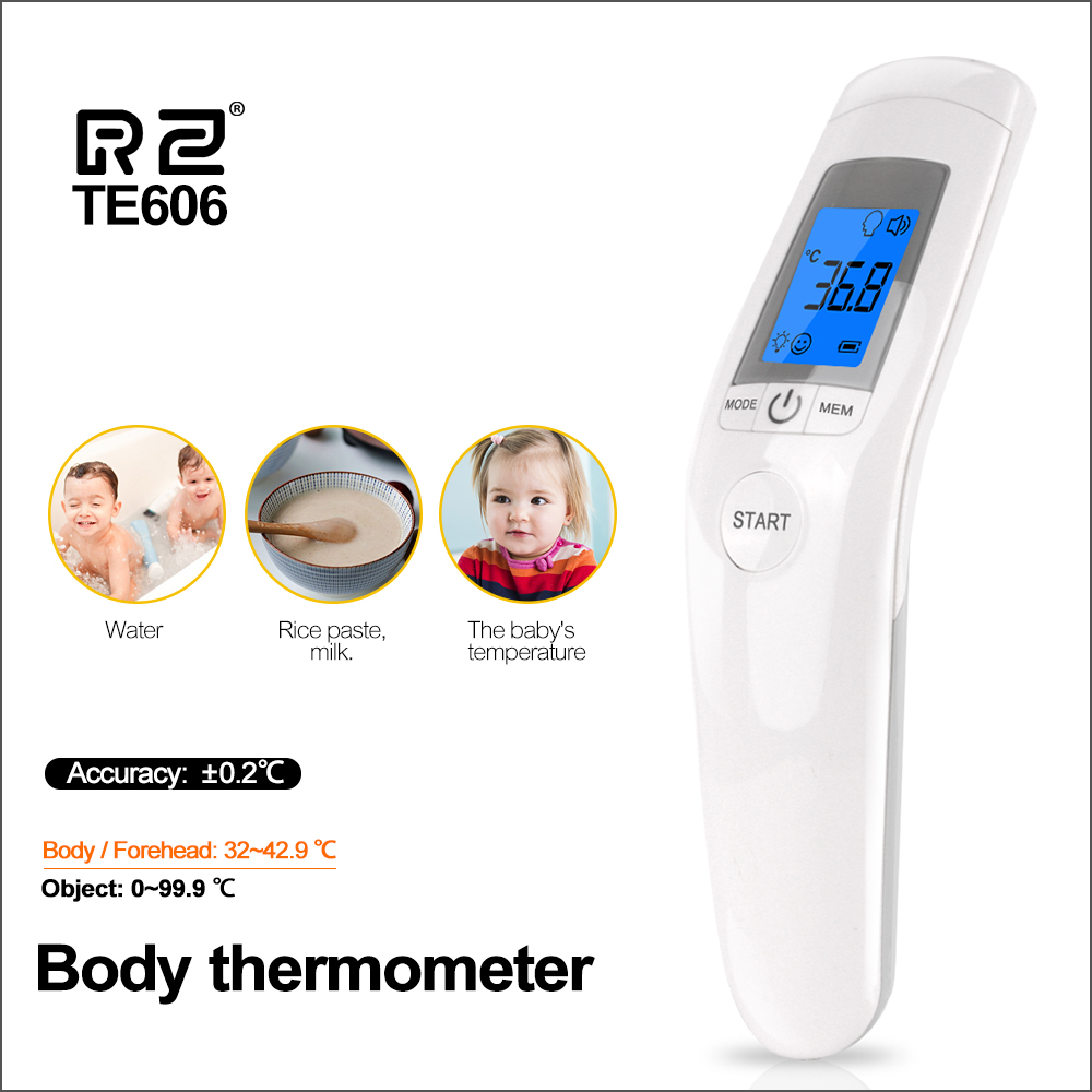 RZ Baby Infrared Thermometer Digital LCD Baby Children Adults Forehead Ear Non-Contact Adult Body Fever IR Children Thermometer