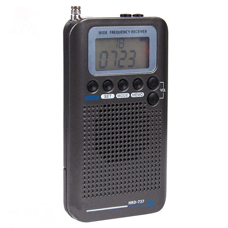 Radio numérique à bande complète démodulateur FM/AM/SW/CB/Air/VHF Radio stéréo Portable avec affichage LCD réveil