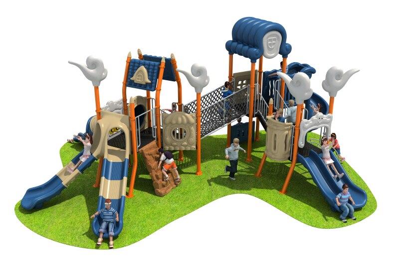 Parc en plastique toboggan aire de jeux promotionnel respectueux de l'environnement enfants jouets drôle en plastique aire de jeux diapositives YLW-OUT180328