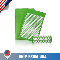 GR Acupressure Mat and Pillow Set Back Neck Pain Stress Tension Muscle Relaxation Acupressure Cushion Fitness Yoga Mat Relief