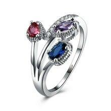 Mode Kristal Zirkoon Ringen Voor Vrouwen Meisjes Wit Goud Kleur Wedding Engagement Finger Ring Geschenken Sieraden Party