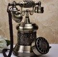 Европа стиль античный телефон античный телефон из металла поворотный площади giratoria телефоны винтаж телефоны старинные