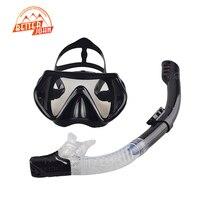 2017 New Professional Scuba Diving Mask Snorkel Anti Fog Goggles Glasses Set Silicone Swimming Fishing Pool