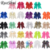28pcs Lot 7 Inch Large Big Sequins Cheerleading Cheer Bows Ribbon Sweet Elastic Hair Bands Children