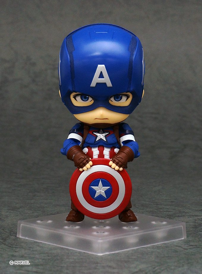 Nendoroid Captain America Hero's Edition Avengers Age of Ultron # 618 PVC Action Figures Collectible Model Kids Toys Doll avengers age of ultron captain america pvc action figure collectible model toy 9 23cm
