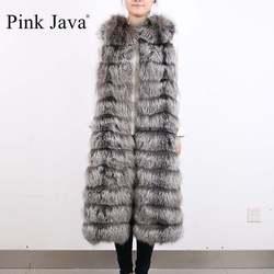 Qc8035 2 qiuchen furs real silver fox fur stripes extra long vest gilet winter furs jacket.jpg 250x250