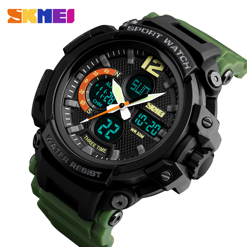 <font><b>SKMEI</b></font> Top Luxury Military Countdown Quartz Waterproof Men Watch Sport Digital Outdoor Fitness Man Wristwatches Relogio Masculino image