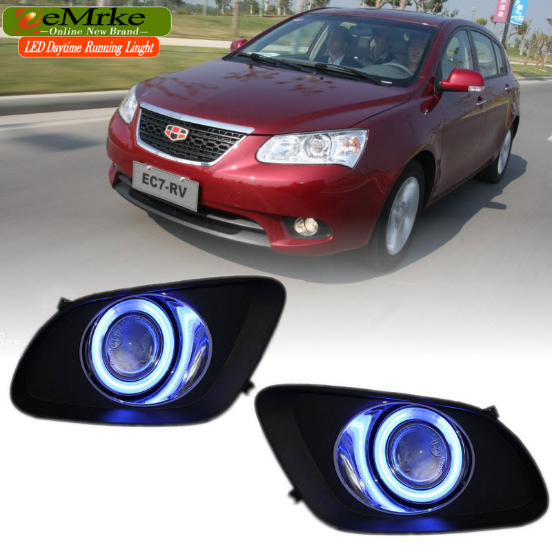EEMRKE For Geely Emgrand 7 (RV) 2in1 COB LED Angel Eye DRL H11 55W Halogen Fog Lights Lamp Daytime Running Light коврик в багажник geely emgrand ec7 rv 2011