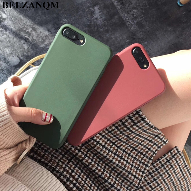 quality design a4297 2dacd US $1.79 |Candy Color Phone Case For iPhone 7 8 plus Retro Wine Red Dark  Green Back Case For iPhone X XR XS Max 6s Plus Case Soft TPU Capa-in Fitted  ...