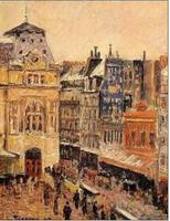 Impression Landscape Wall Art Oil Painting Reproduction Home Decor View of Paris, Rue d Amsterdam by Camille Pissarro Hand Made