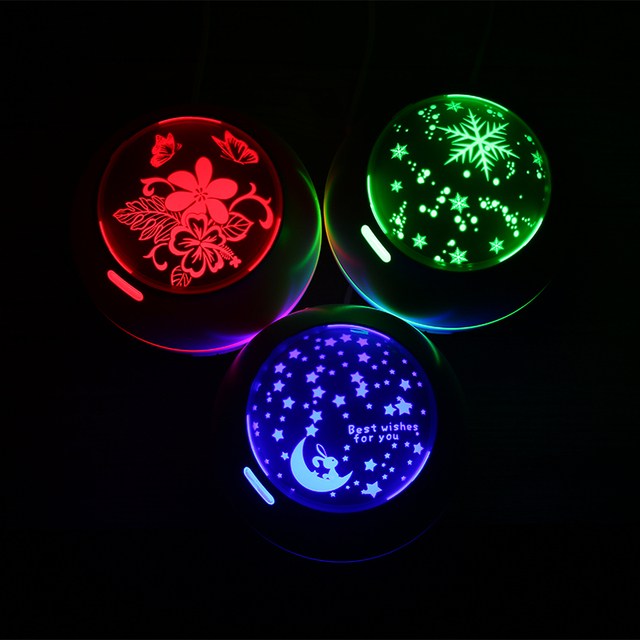 LED Stars and Moon Round Aromatherapy Diffuser