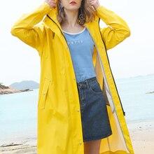 Yellow Raincoat Poncho Waterproof-Coats Lightweight Transparent Travel Black White Hiking