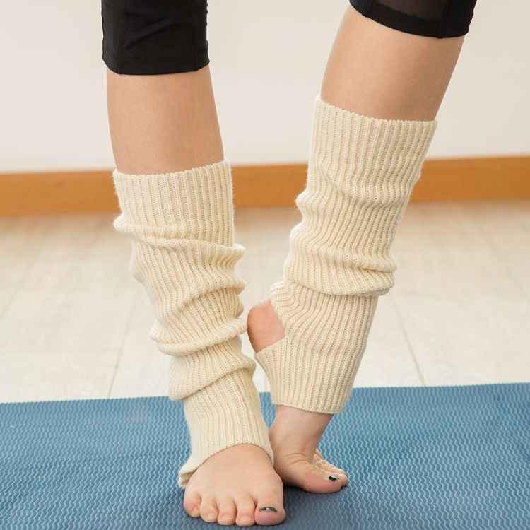 Yeni Örgü Egzersiz Koruyucu Yün bot paçaları kadın Kışlık Botlar Sıcak Düz Uzun Bacak Isıtıcıları Kış Örme Dans Bacak