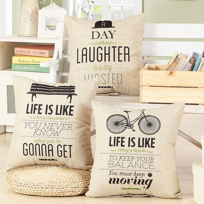 Aliexpress Buy Fashion Letter Cushion No Inner Design English Stunning Decorative Pillows With Words