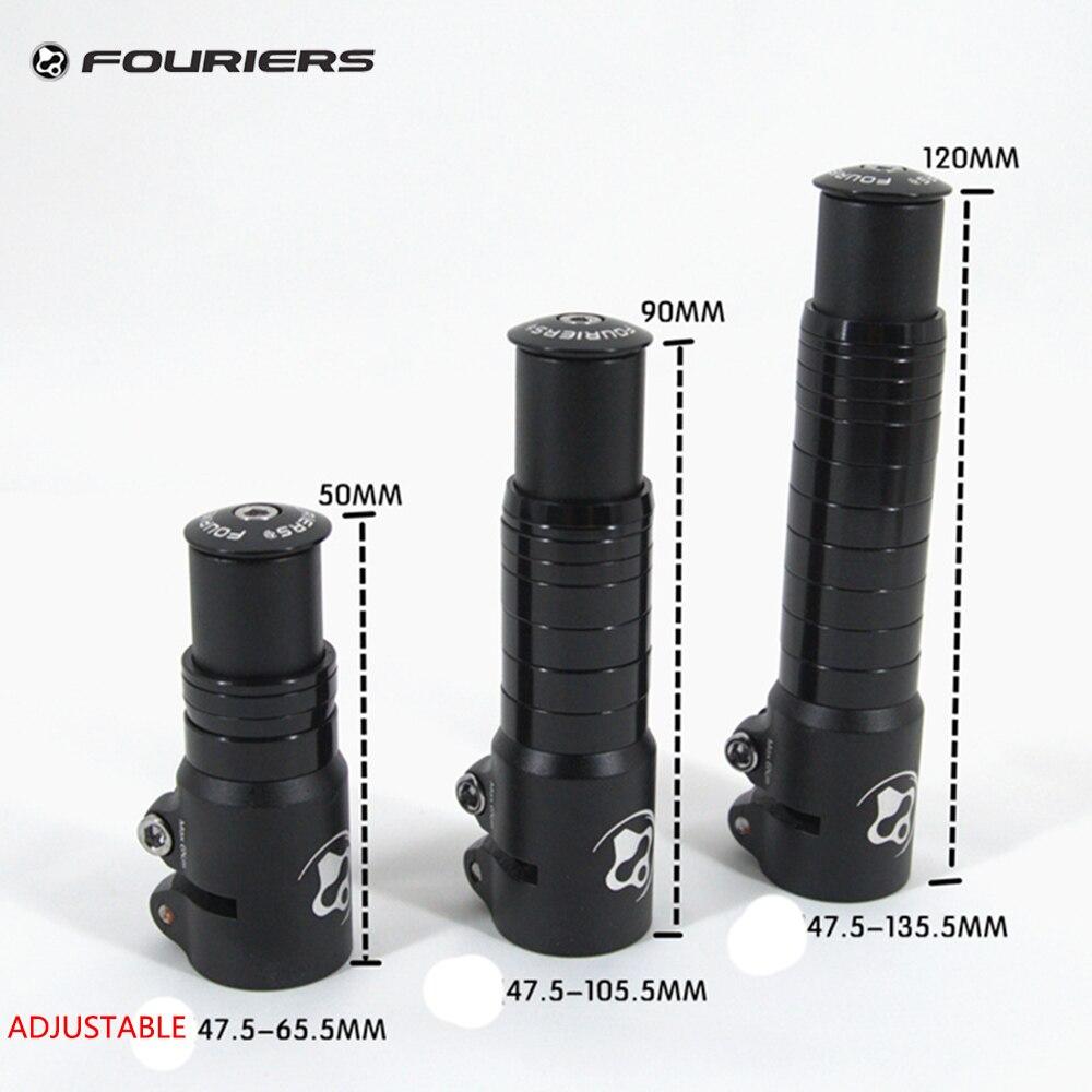 """Fouriers Bike Stem Extender Adapter Riser 50mm 90mm 120mm For 1 1//8/"""" Steerer"""