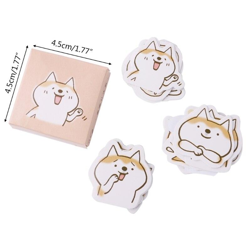 Купить с кэшбэком 45Pcs Creative Cute Dog Paper Stickers Diary Decoration DIY Scrapbooking Sticker