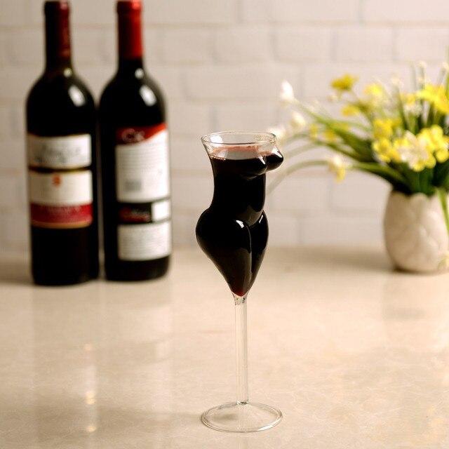 52c59bcb4ba8 Copas de vino creativas sexi copas de cristal copas de belleza diseño de  cuerpo hermoso bebidas
