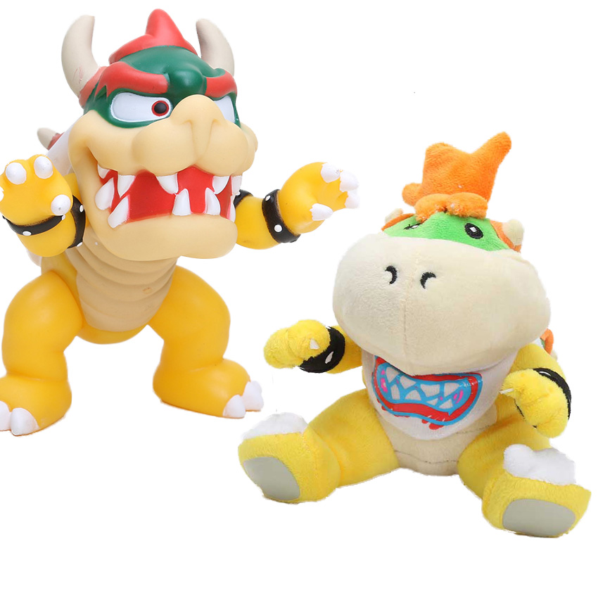 New mario figure Koopa Bowser Plush Toy Super Mario Bros Stuffed Doll Soft Baby Toy Gift(China)