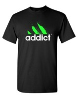 Mens Funny Addict DJ T Shirt Funny Addicted EDM DJ Club Style T Shirts Electronic Dance
