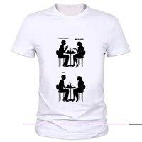 Funny Geeks Dating Manga Printed T Shirt Science Geek Design T Shirts The Big Bang Men