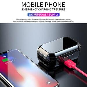 Image 5 - G02 V5.0 auriculares, inalámbricos por Bluetooth, auriculares estéreo IPX7 impermeables Táctiles con pantalla LED de batería de 3300mAh y estuche de carga tipo c