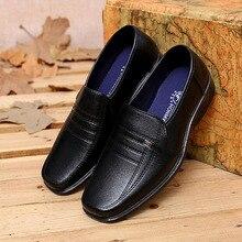 Новое поступление 2017 года бизнес мужская повседневная Кожаные модельные туфли обувь Slip-On дышащие для работы и отдыха обувь на плоской подошве Большие размеры европейские размеры 38–44