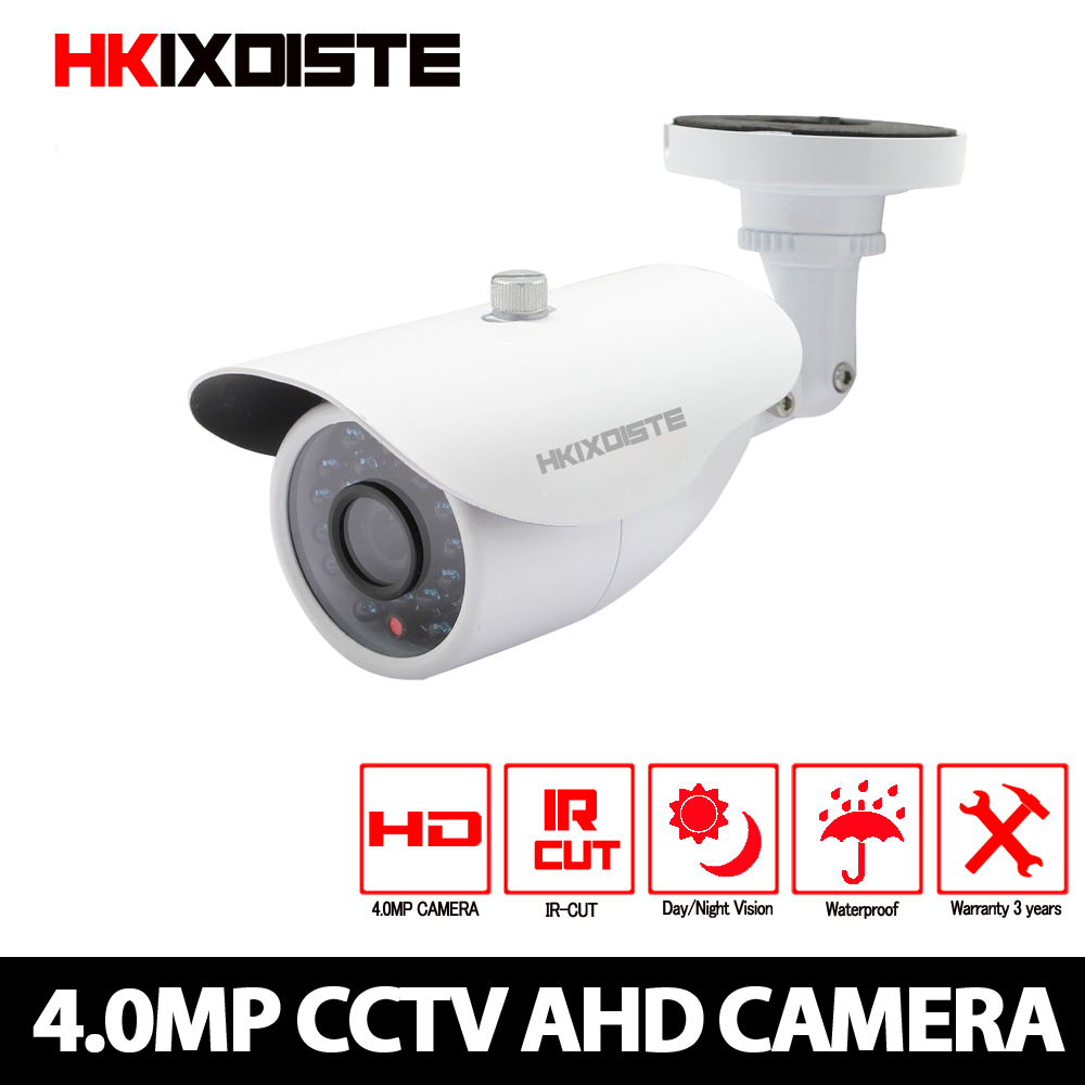 AHD Camera 4MP CCTV Bullet Camera Waterproof Metal housing 3 6mm Lens 4 Megapixel CCTV Camera for AHD DVR Surveillance System in Surveillance Cameras from Security Protection