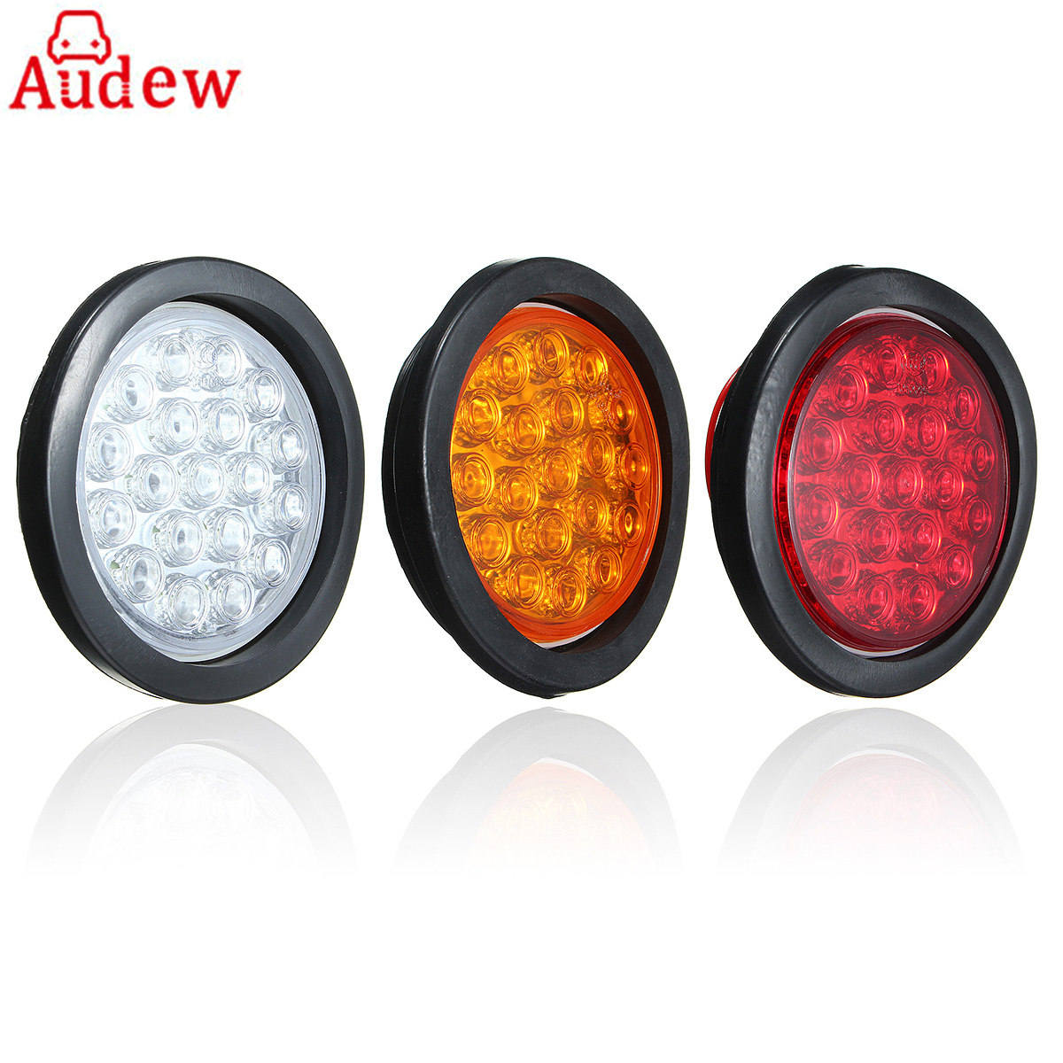 2Pcs 19 SMD Car Tail Lights Side Turn Light ATV LED Reflectors Truck Side Marker Indicator Warning Lights Red Yellow White