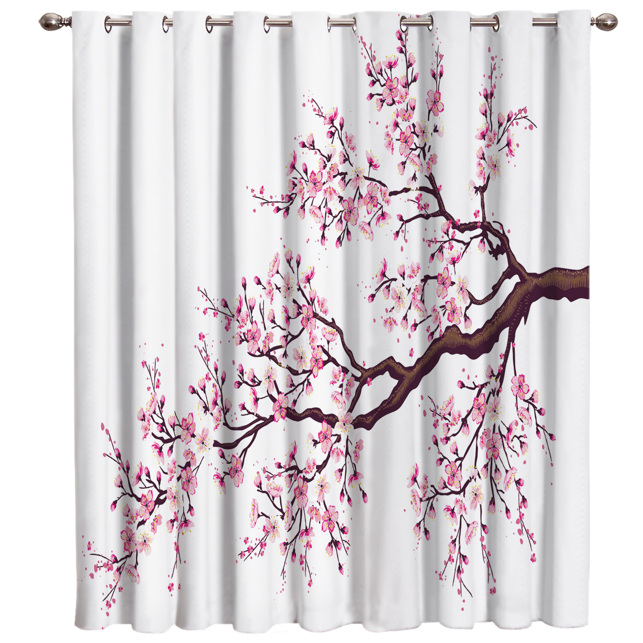 Pink Cherry Blossoms Flower Window