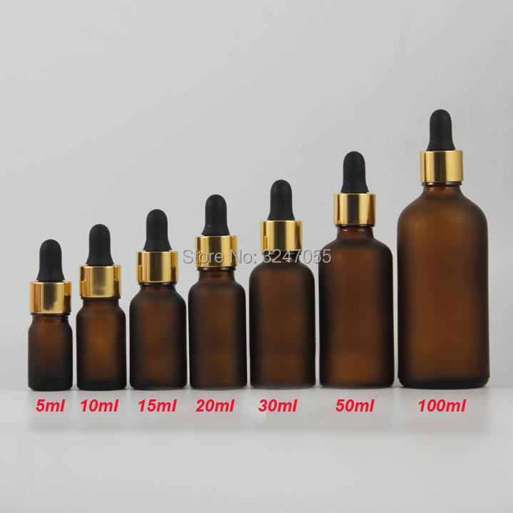 Matte Brown Glass Pipettes Cosmetic Essential Oil Containers, DIY Empty Frosted Amber Vial Dropper Bottle,5/10/15/20/30/50/100ml 1l food grade plastic glasswares chemical reagent bottle pet empty cosmetic containers 10pc large sample bottle food containers