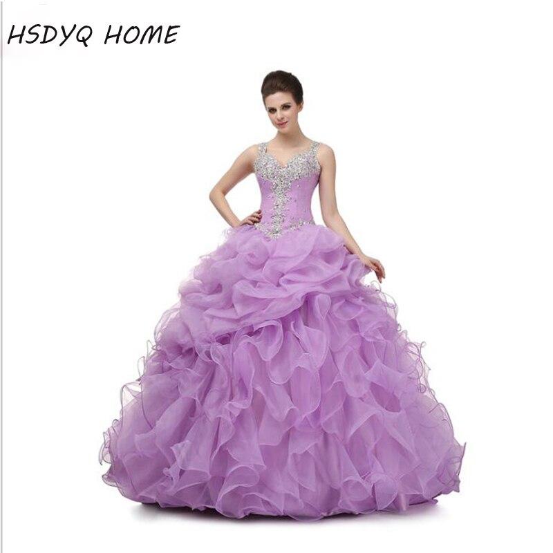 Personalizar coral Vestidos de quinceañera cristales bola vestido ...