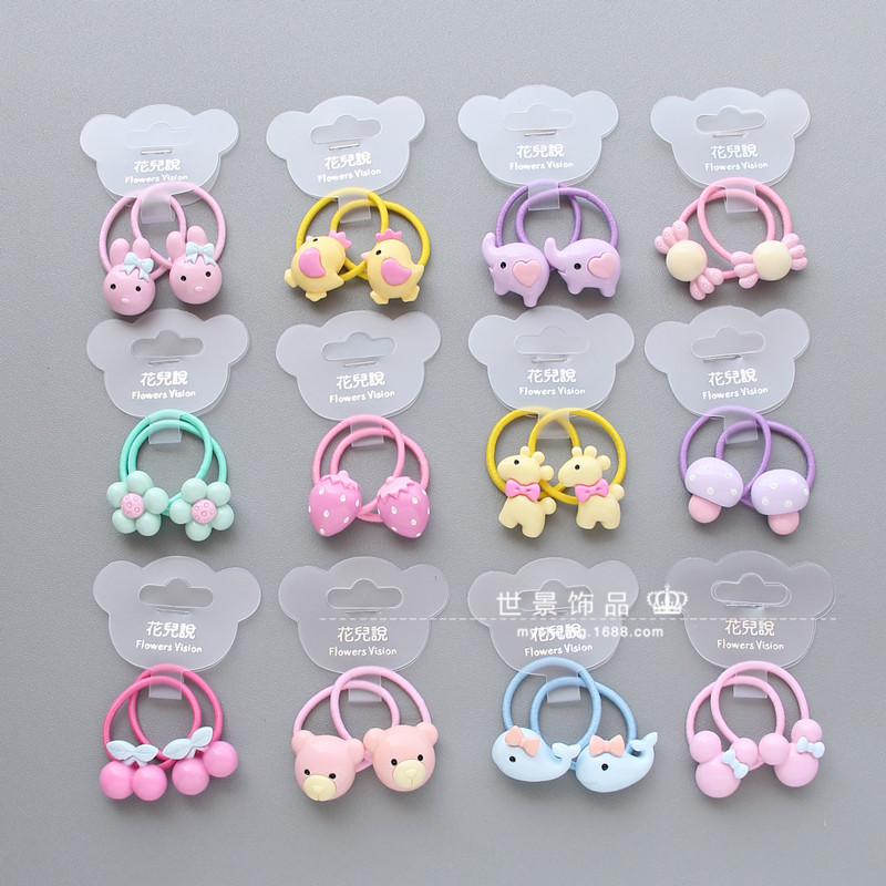 Korean Hair Accessories For Girls Handmade Hairpins Acrylic Dimensional Dolls Hair Clips Cartoon Elastic Hair Band Headdress hot sale korean acrylic hair clips for women 3 colors dot hairpins barrettes for girls 2016 new fashion hair accessories