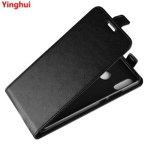 Image 1 - 名誉 8C アップダウン垂直フリップ財布革カードホルダーケース Huawei 社の名誉 8C Honor8C フル保護電話カバーケース