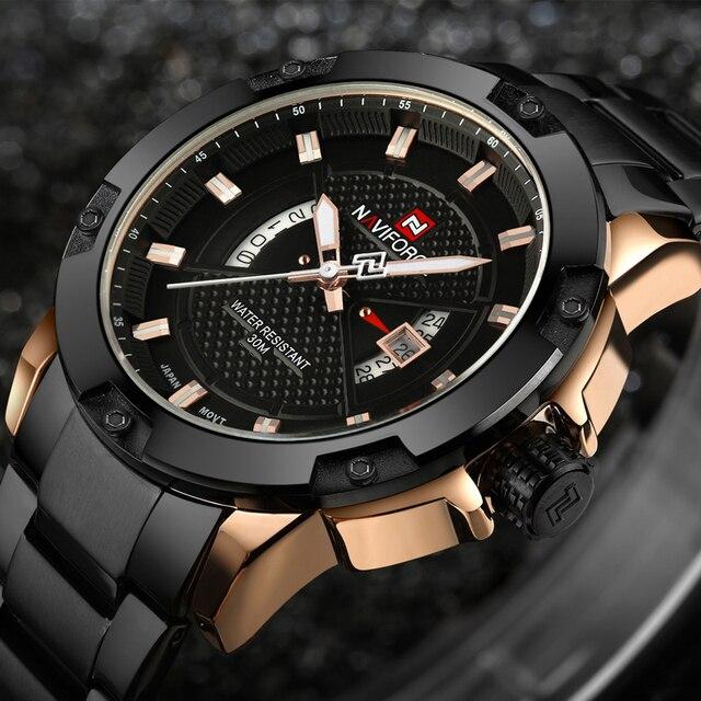 7885c31b6700 La mejor compra Relojes Para Hombre de marca lujo la mejor NAVIFORCE ...