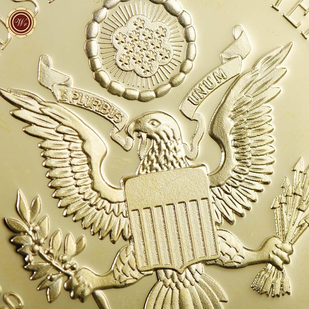 WR 1 Adet Altın Başkan ABD Donald Trump Altın Kaplama Sikke ABD - Ev Dekoru - Fotoğraf 3