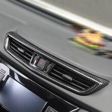 Для Nissan QASHQAI J11 LHD Стайлинг ABS пластик углеродного волокна печати подкладке спереди вентиляционное отверстие Выход Обложка отделка 2015 2016 2017