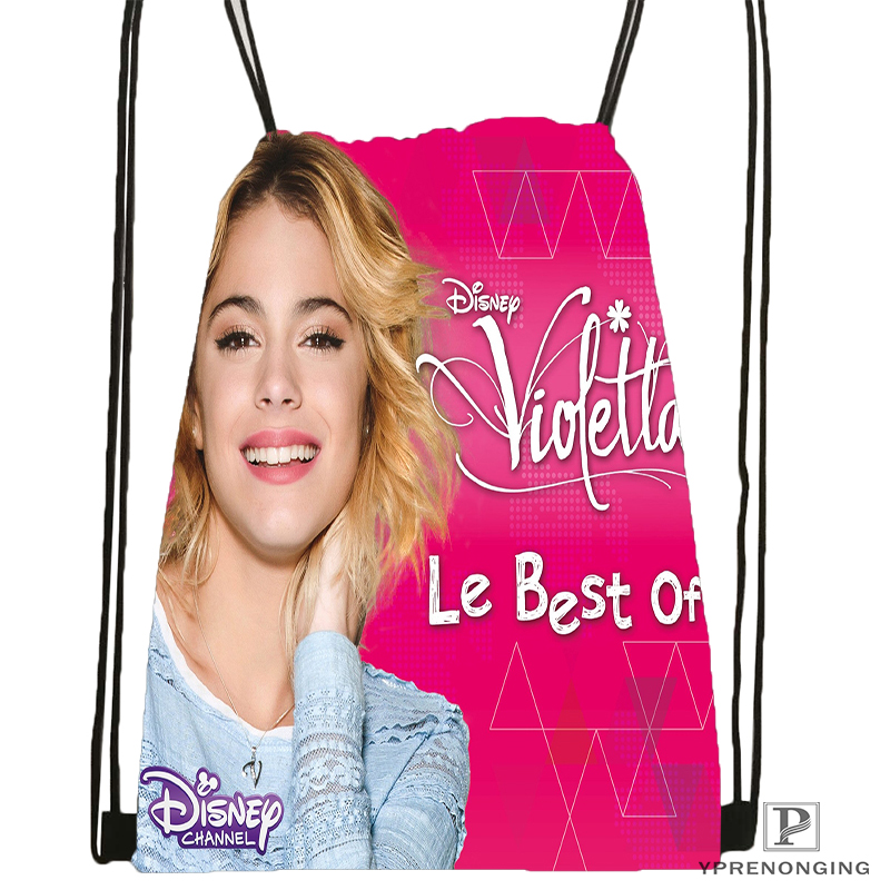 Custom Violetta Backstage Drawstring Backpack Bag for Man Woman Cute Daypack Kids Satchel Black Back 31x40cm