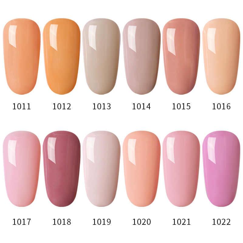 Modelos Color gris serie Led esmalte de uñas de Gel arte de uñas Color desnudo UV esmalte laca de uñas Semi permanente Gel Rosa laca de uñas
