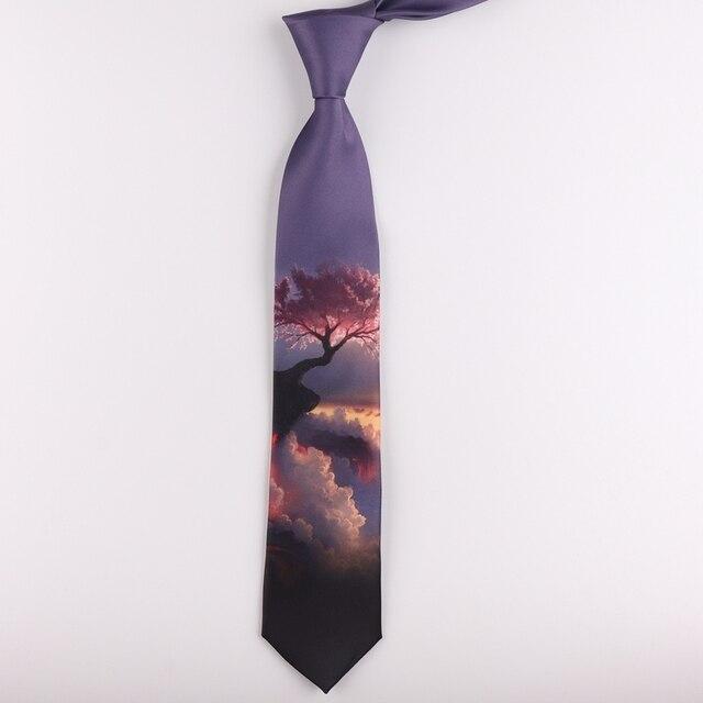 Tie 7 CENTIMETRI stampa legame maschio e femmina studenti letterario di tendenza di personalità casuale regalo cravatta