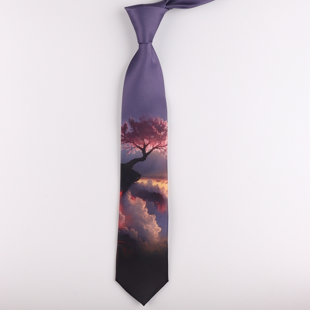Tie 7CM printing tie male and female students literary trend casual personality gift tie