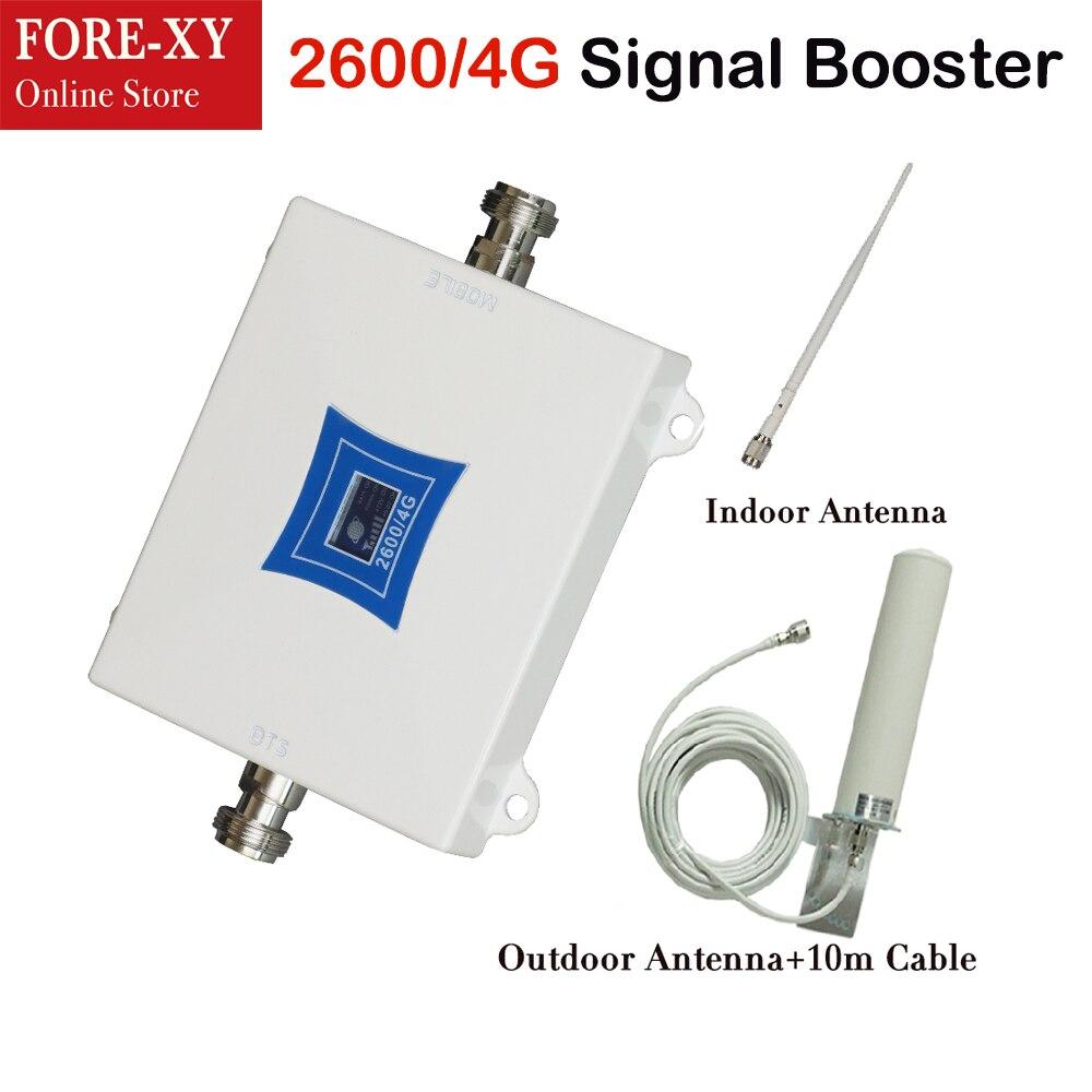 Amplificateur de signal 4g amplificateur de signal de téléphone portable boost 2600 mhz répéteur de signal de téléphone portable 4g booster de signal de téléphone portable pour la maison