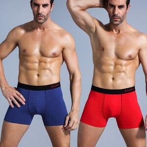 Image 3 - SRBONIOTOS ماركة 4 قطع الرجال الملابس الداخلية الرجال الملاكم ملابس داخلية قطنية الذكور الملاكمين Cueca 365 السروال الرجال سراويل داخلية