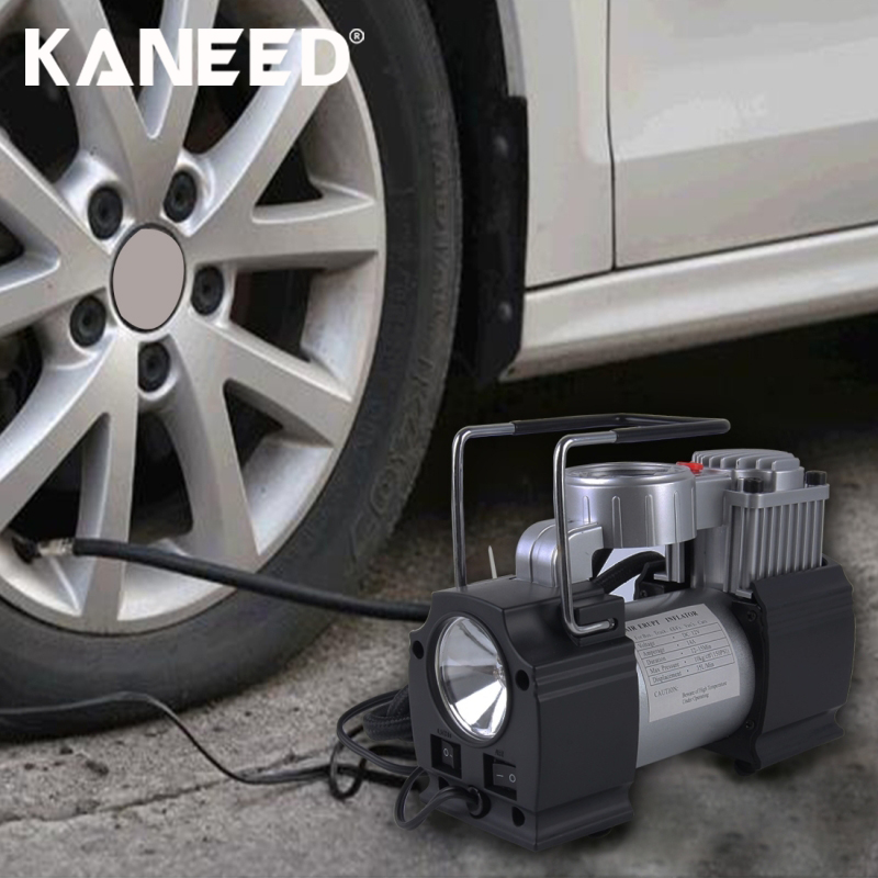 Portable Air Compressor Heavy Duty 12V 85-150 PSI Pump Tire Inflator Car Tool Inflatable Pump for Outdoor Emergency With 3 LEDs цена 2017