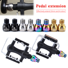 1 Pair Mountain Fixed Gear Road bike Fold bicycle Stainless Steel Accessories Pedal extend Screw Foot Extension Long Pole