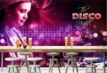 3d room wallpaper custom mural non-woven wall sticker Nightclub sexy beauty hair painting photo murals wallpaper for walls 3d