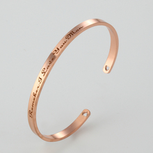 2017 New Stainless Steel Engraved Positive Inspirational Quote  Cuff Mantra Bracelet Bangle For Women Best Gifts 2017 stainless steel mantra bracelet positive inspirational quote cuff engraved bangle bracelet for women best gift