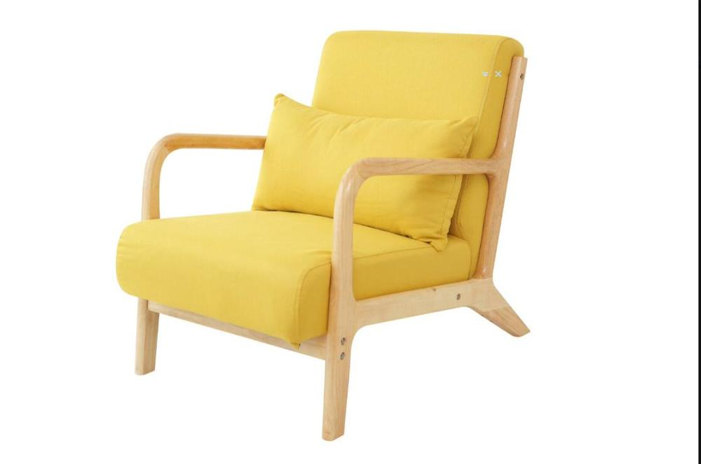 Lounge Chair Armchair Mid Century Modern Accent Chair Wood Frame Leisure Single Sofa Chair For Living Room, Bedroom Furniture