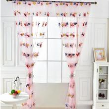 Children Cartoon Car Printed Transparent Tulle Curtains Play Room Window Valance Living Curtain